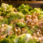Cheap Pasta with Roasted Broccoli, Walnuts and Parmesan