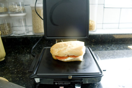 Egg Sandwich on the Press