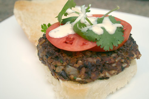 final black bean veggie burger photo