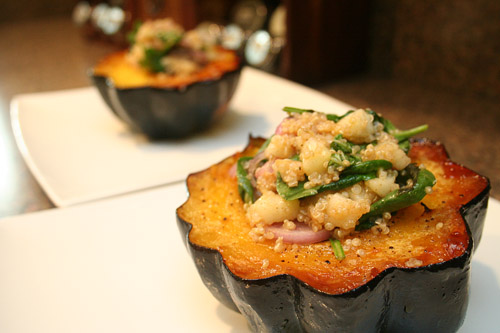 Acorn Squash with Pear and Quinoa Salad